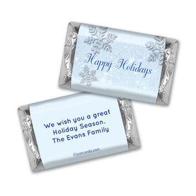Happy Holidays Personalized Hershey's Miniatures Classic Snowflakes Happy Holidays