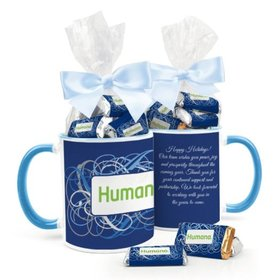Personalized Christmas Ribbons 11oz Mug with Hershey's Miniatures