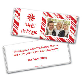Christmas Personalized Chocolate Bar Wrappers Peppermint Candy Photo