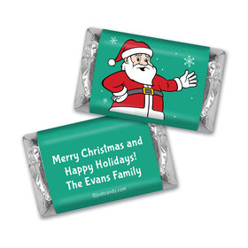 Christmas Personalized Hershey's Miniatures Have a Merry Christmas Santa