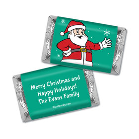 Christmas Personalized Hershey's Miniatures Wrappers Have a Merry Christmas Santa