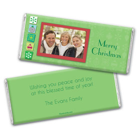 Christmas Personalized Chocolate Bar Wrappers Christmas Cutouts with Photo