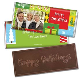 Christmas Personalized Embossed Chocolate Bar Christmas Collage Photo