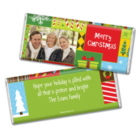 Christmas Personalized Chocolate Bar Christmas Collage Photo