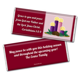 Christmas Personalized Chocolate Bar Grace and Peace to You