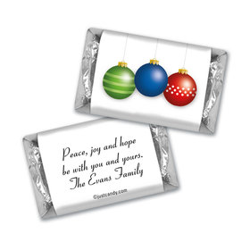 Christmas Personalized Hershey's Miniatures Happy Holidays Ornaments