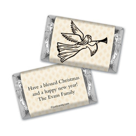 Christmas Personalized Hershey's Miniatures Angels Trumpet Peace and Joy