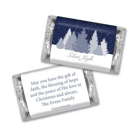 Christmas Personalized Hershey's Miniatures Silent Night Snowfall