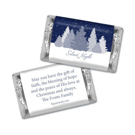 Christmas Personalized Hershey's Miniatures Wrappers Silent Night Snowfall