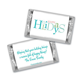 Happy Holidays Personalized Hershey's Miniatures Multicolor Happy Holidays