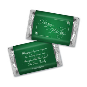 Happy Holidays Personalized Hershey's Miniatures Classic Holiday Wish