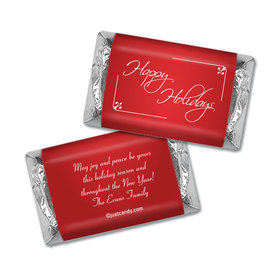 Happy Holidays Personalized Hershey's Miniatures Wrappers Classic Holiday Wish