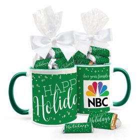 Personalized Christmas Simply Holidays 11oz Mug with Hershey's Miniatures