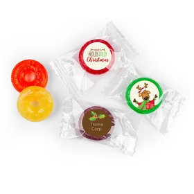 Personalized Christmas Jolly Reindeer Life Savers 5 Flavor Hard Candy