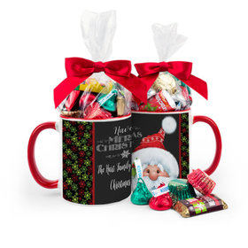 Personalized Christmas Chalkboard Santa 11oz Mug with Hershey's Holiday Mix