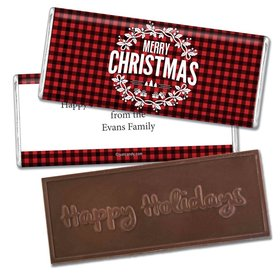 Personalized Christmas Embossed Bar