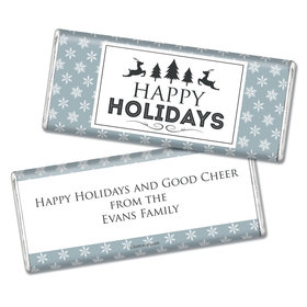 Personalized Christmas Chocolate Bar & Wrapper