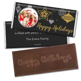 Personalized Once Upon a Holiday Embossed Happy Holidays Bar Chocolate Bar