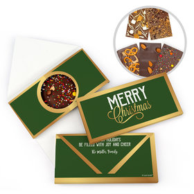 Personalized Christmas Gourmet Infused Belgian Chocolate Bars (3.5oz)