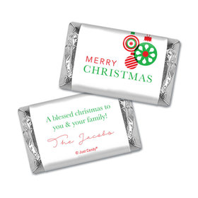 Christmas Personalized Hershey's Miniatures Wrappers Christmas Ornaments