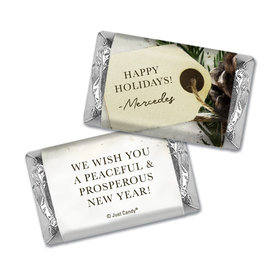 Christmas Personalized Hershey's Miniatures Wrappers Christmas Confetti