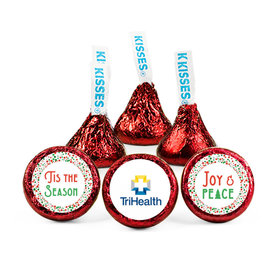 Personalized Christmas Confetti Add Your Logo Hershey's Kisses (50 pack)