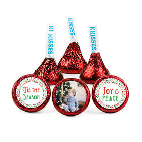 Personalized Christmas Confetti Hershey's Kisses (50 pack)