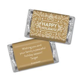 Christmas Personalized Hershey's Miniatures Happy Holidays