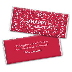 Personalized Christmas Confetti Chocolate Bar & Wrapper