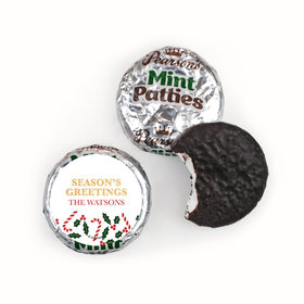 Personalized Happy Holidays Snowman Pearson's Mint Patties