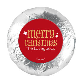 "Personalized Shimmering Christmas 1.25"" Stickers (48 Stickers)"