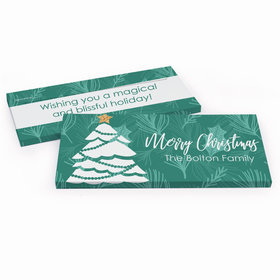 Deluxe Personalized Oh Christmas Tree Chocolate Bar in Gift Box