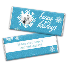 Personalized Christmas Wintry Wishes Chocolate Bar & Wrapper