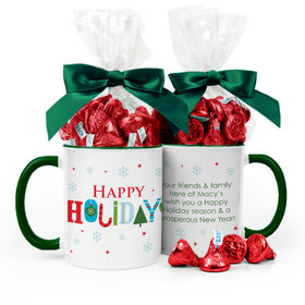 Personalized Holiday Whimsical Holidays 11oz Mug with Hershey's Kisses