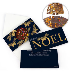 Personalized Christmas First Noel Gourmet Infused Belgian Chocolate Bars (3.5oz)