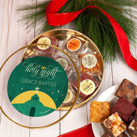 Personalized Holy Celebration Tin with Brownies