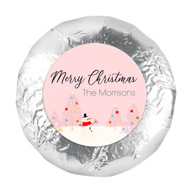 """Personalized Christmas Blush 1.25"""" Stickers (48 Stickers)"""
