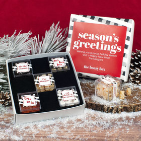 Personalized Premium Gift Box with 5 JUST CANDY® favor cubes - Christmas Chic Boozy Box