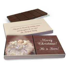 Deluxe Personalized Christmas Away in a Manger Chocolate Bar in Gift Box (3oz Bar)