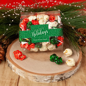 Personalized Happy Holidays Christmas Candy Coated Popcorn 3.5 oz Bags