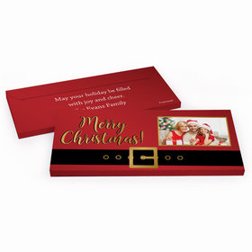 Deluxe Personalized Christmas Santa Belt Candy Bar Favor Box