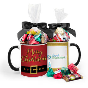 Personalized Christmas Santa Buckle 11oz Mug with Hershey's Holiday Mix