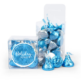 Hershey's Kisses Holiday Wishes Clear Gift Box