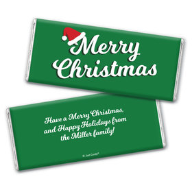 Personalized Christmas Retro Chocolate Bar Wrappers Only