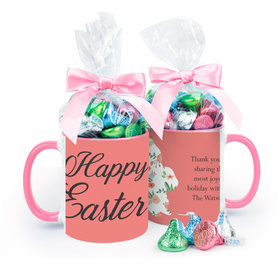 Personalized Easter Floral Bunny Egg 11oz Mug