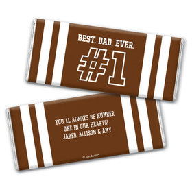 Personalized Father's Day #1 Dad Chocolate Bar