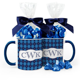 Personalized Father's Day Argyle 11oz Mug with Hershey's Kisses