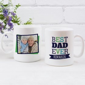 Personalized Father's Day 11oz Coffee Mug - Best Dad Ever