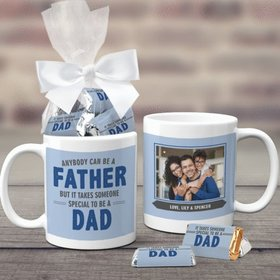 Father's Day Gifts Personalized 11oz Coffee Mug with approx. 24 Wrapped Hershey's Miniatures - Special Dad