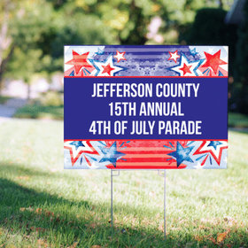 Personalized Patriotic Yard Sign